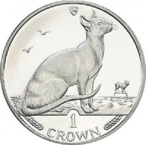 Сиамская кошка на монетах о.Мэн