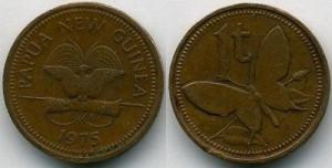 Бабочка на монете Папуа-Новой Гвинеи
