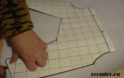 Переносим выкройку на бумагу
