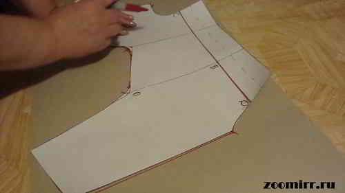 Переносим рабочую выкройку на бумагу