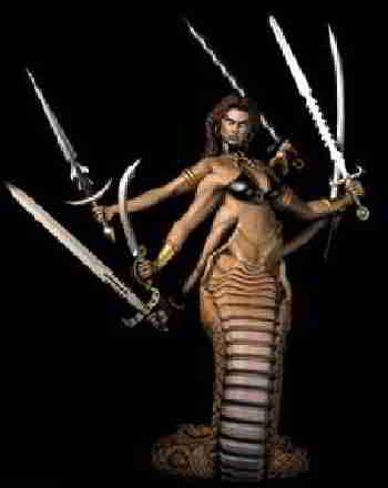 Ехидна-полу-женщина,полу-змея