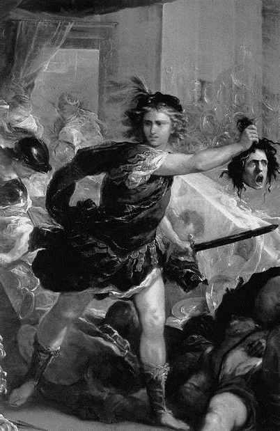 Герой Персей с головой Медузы горгоны