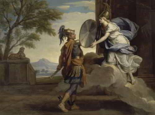 Афина дает Персею зеркальный щит