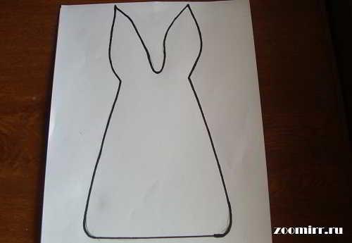 Рисуем шаблон зайца