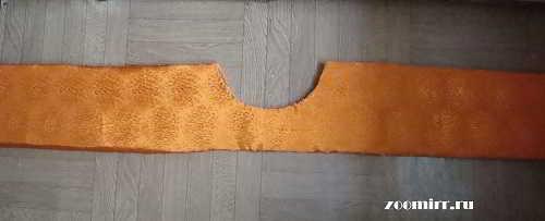 Обшиваем детали тканью