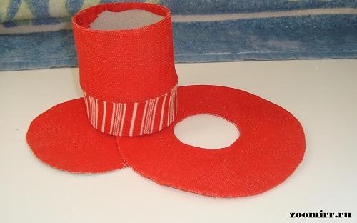 Картон обтягиваем тканью