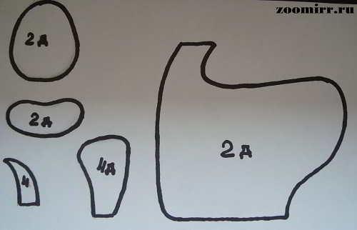 Выкройка коровы