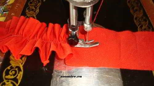Рюшки для платья