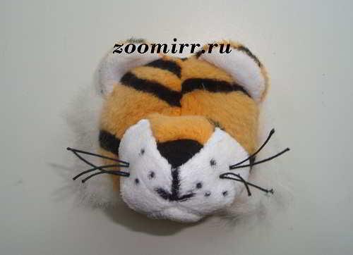 Пришиваем нос тигра