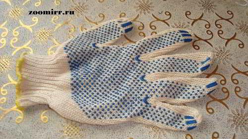 Х/б перчатка для носков